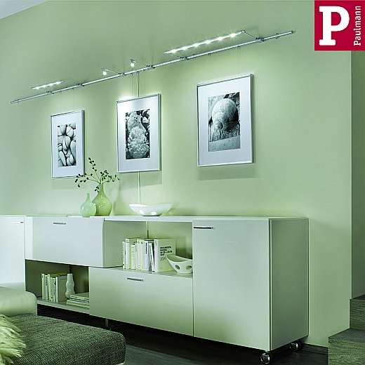 uline galeria lichtschienensystem bildbeleuchtung von paulmann led leuchten styled. Black Bedroom Furniture Sets. Home Design Ideas