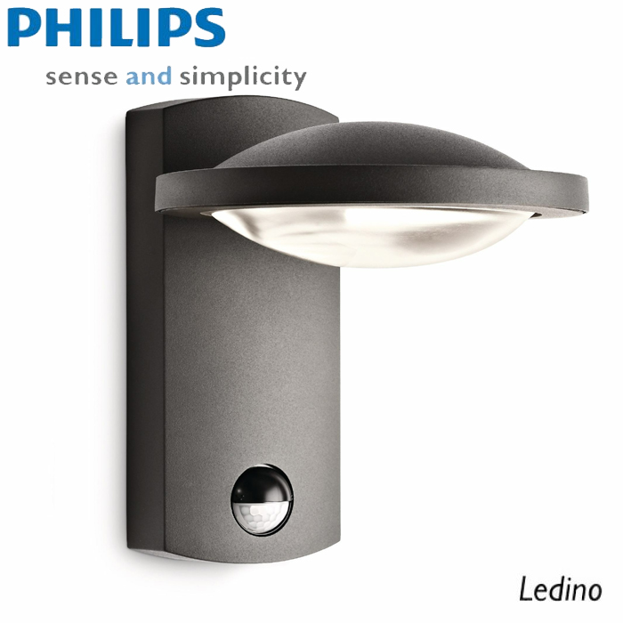 philips ledino outdoor ir wandleuchte 7 5w 17239 93 16 anthrazit led leuchten styled. Black Bedroom Furniture Sets. Home Design Ideas