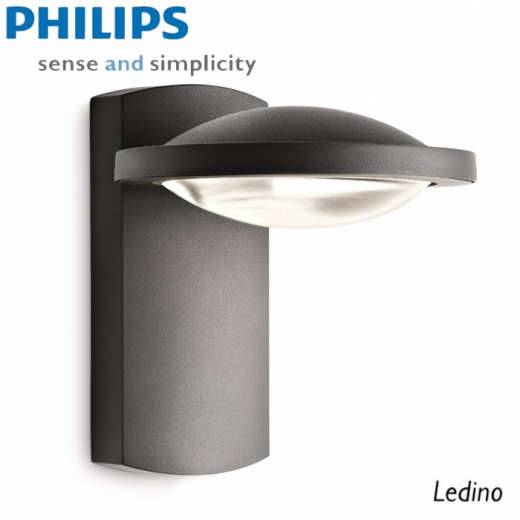 philips ledino outdoor wandau enleuchte 7 5w 17238 93 16 anthrazit led leuchten styled. Black Bedroom Furniture Sets. Home Design Ideas
