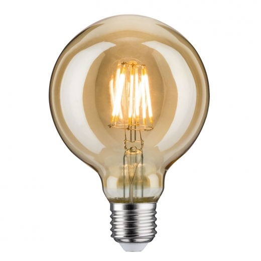 LED Globe 95 7,5 Watt E27 Gold 230 V Warmweiß Paulmann
