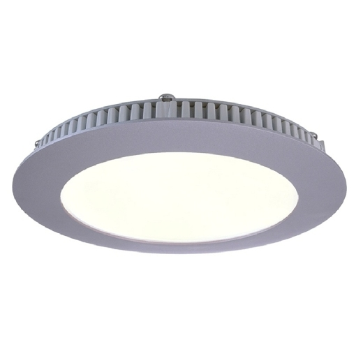Kapego LED Panel 8W, silber, warmweiß, 2700K