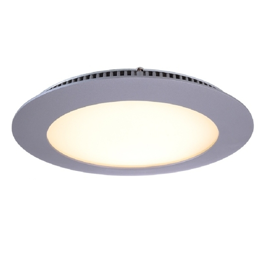 Kapego LED Panel 12W, silber, warmweiß, 2700K