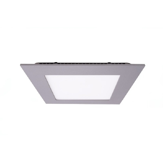 Kapego LED Panel Square 15W, silber , neutralweiß, 4000K