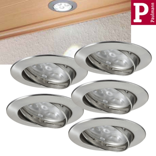 Premium EBL Set Power Flood LED 5x3W Eisen geb.